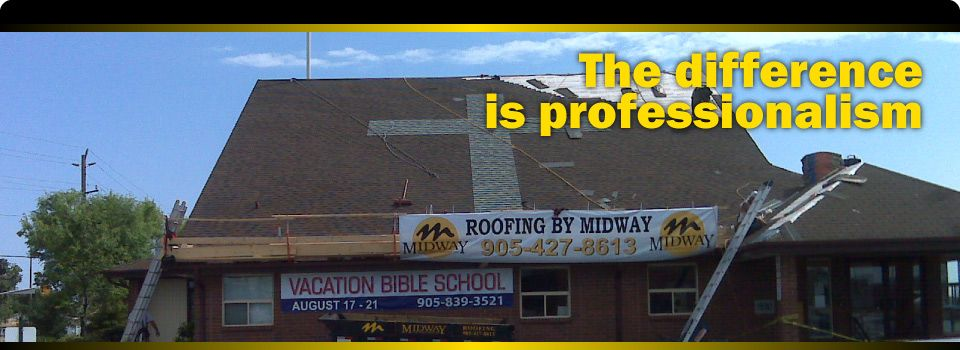 The difference is professionalism | Installing church roof