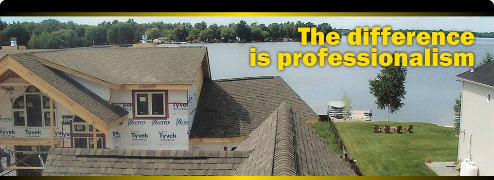 The difference is professionalism | roof construction